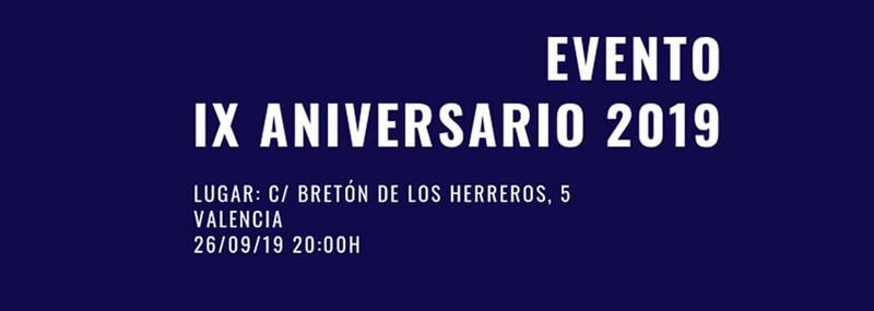 Evento IX Aniversario 2019 José Mauro Pozo Gómez